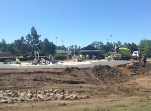 splash pad under construction