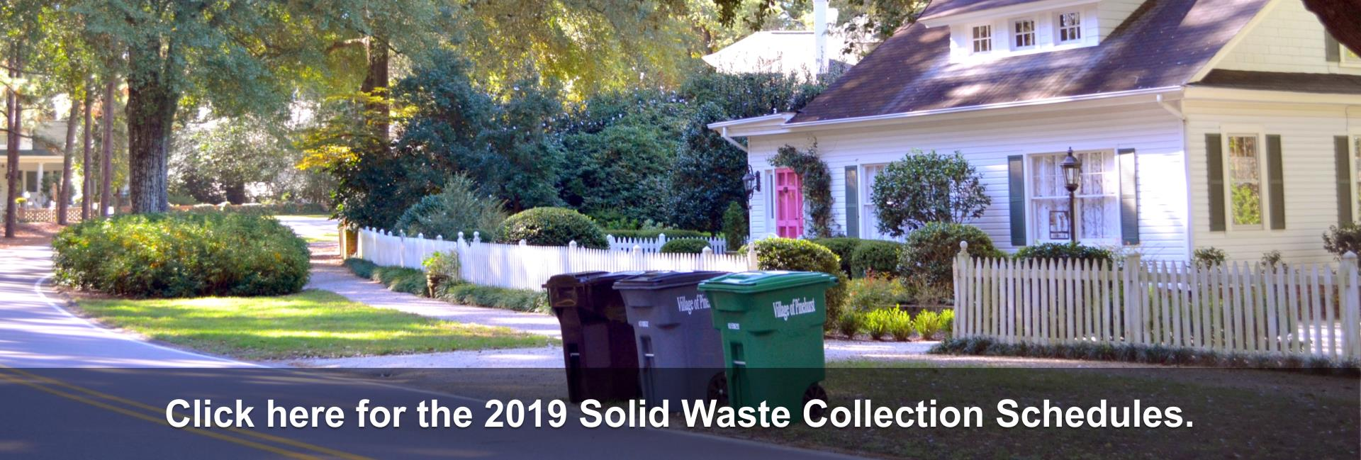 2019 Solid Waste Collection Schedules